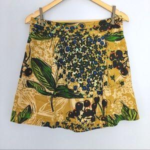 Anthro Edme & Esyllte Tiered Blueberry Skirt